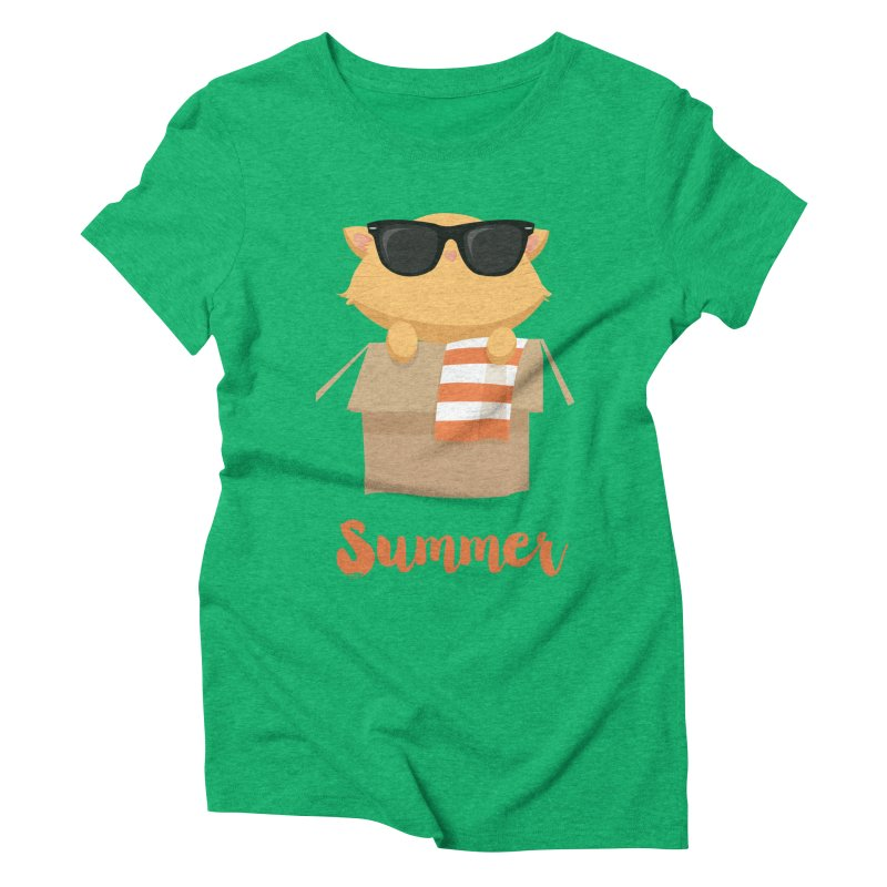 Summer Kitty Women's Triblend T-Shirt by Origami Studio