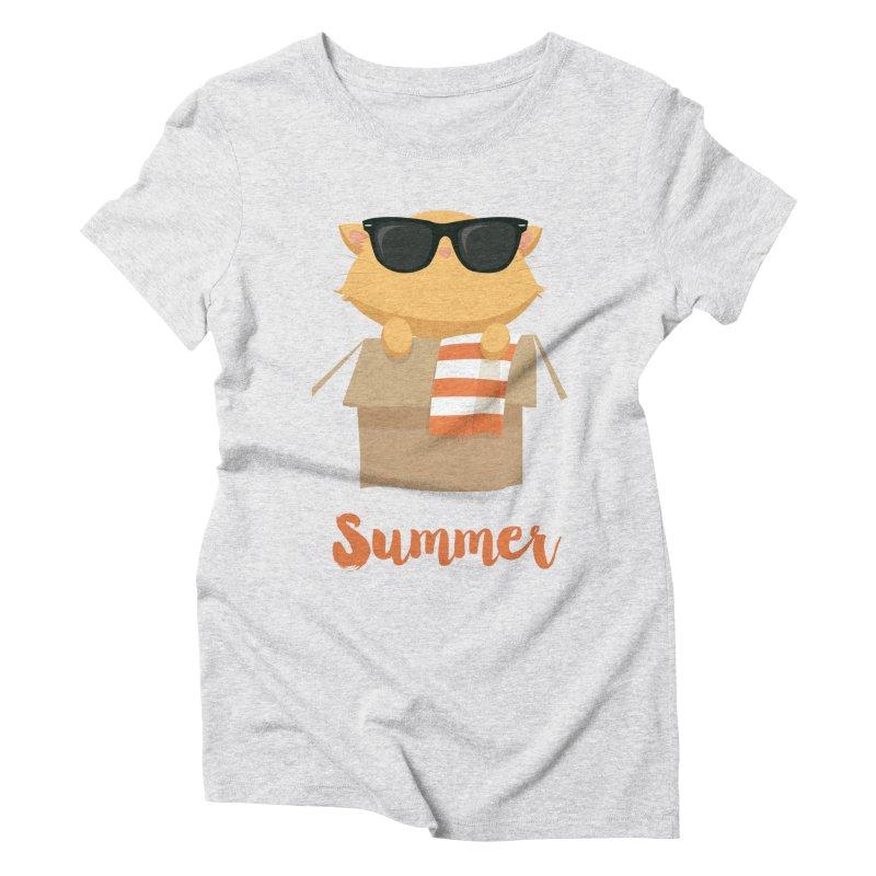 Summer Kitty Women's T-Shirt by Origami Studio