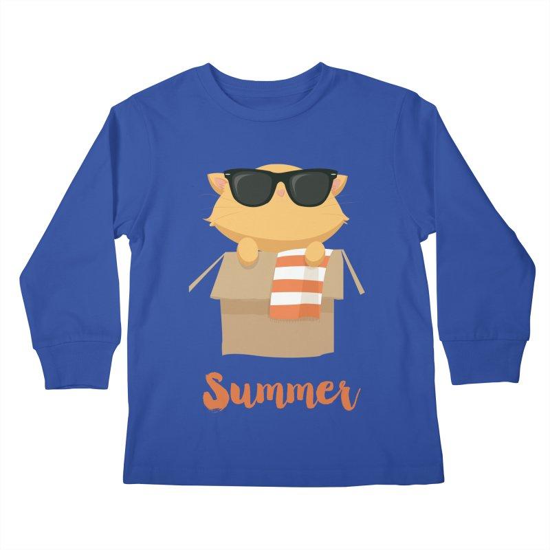 Summer Kitty Kids Longsleeve T-Shirt by Origami Studio