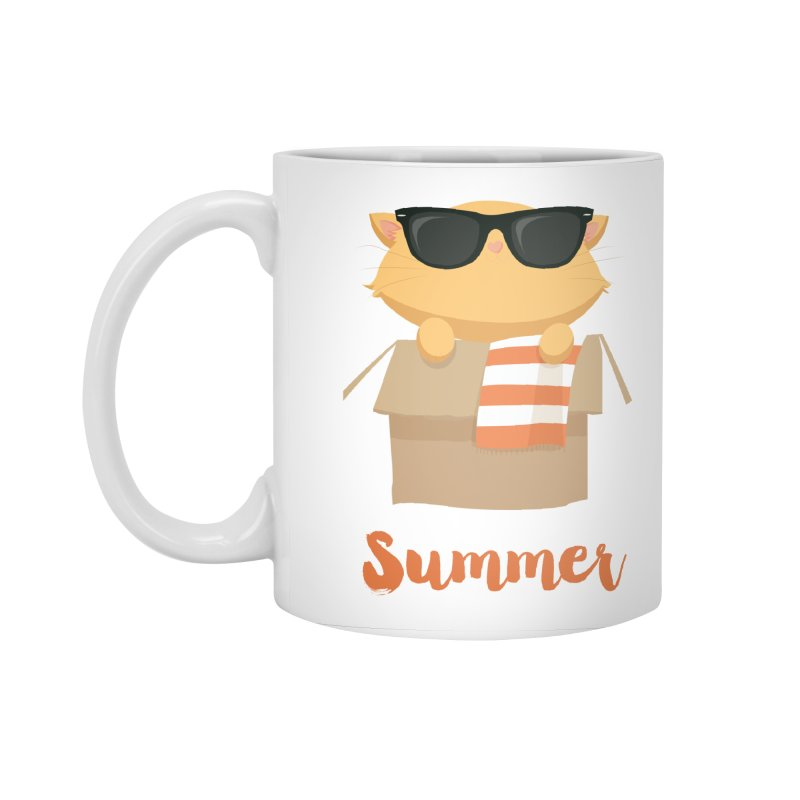 Summer Kitty Accessories Standard Mug by Origami Studio