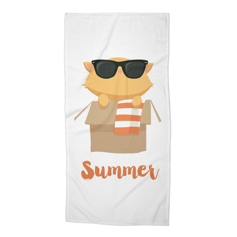 Summer Kitty Accessories Beach Towel by Origami Studio