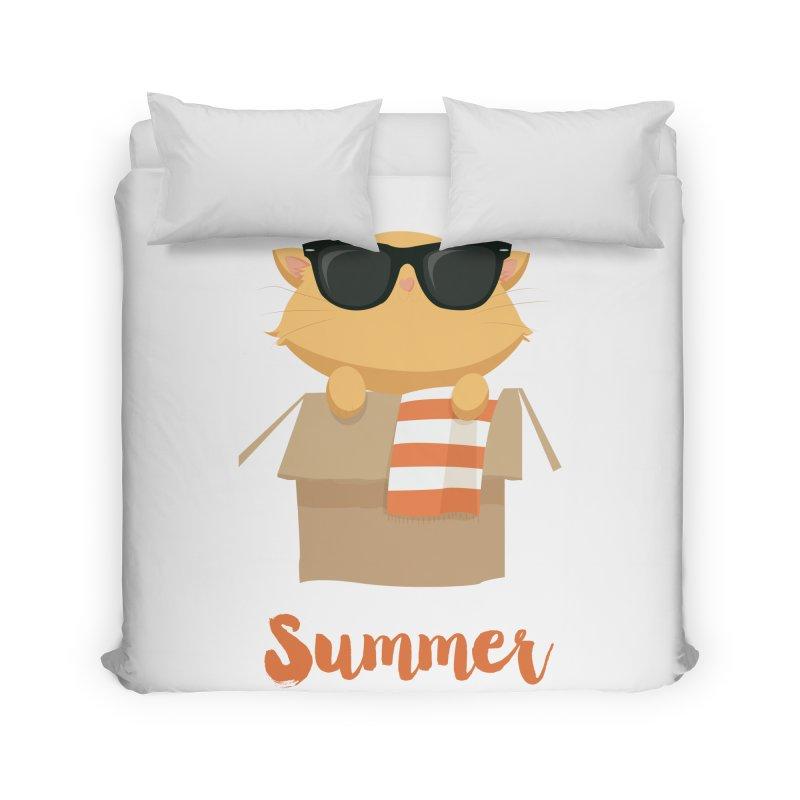 Summer Kitty Home Duvet by Origami Studio