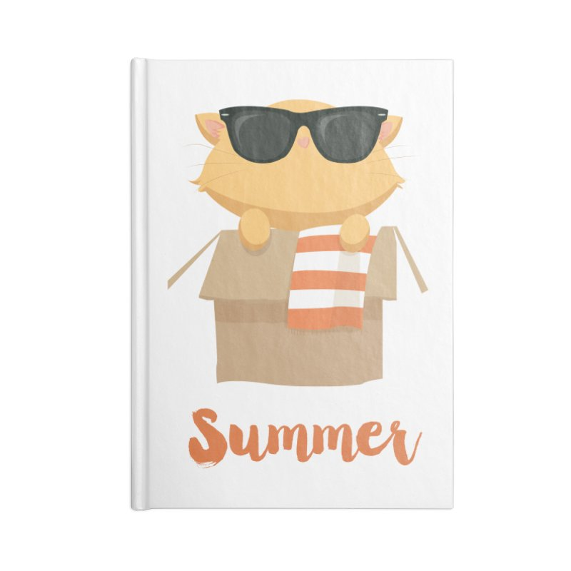 Summer Kitty Accessories Blank Journal Notebook by Origami Studio