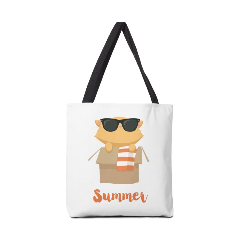 Summer Kitty Accessories Tote Bag Bag by Origami Studio