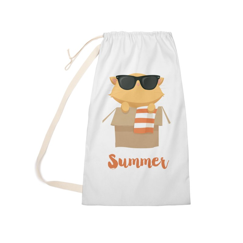 Summer Kitty Accessories Laundry Bag Bag by Origami Studio
