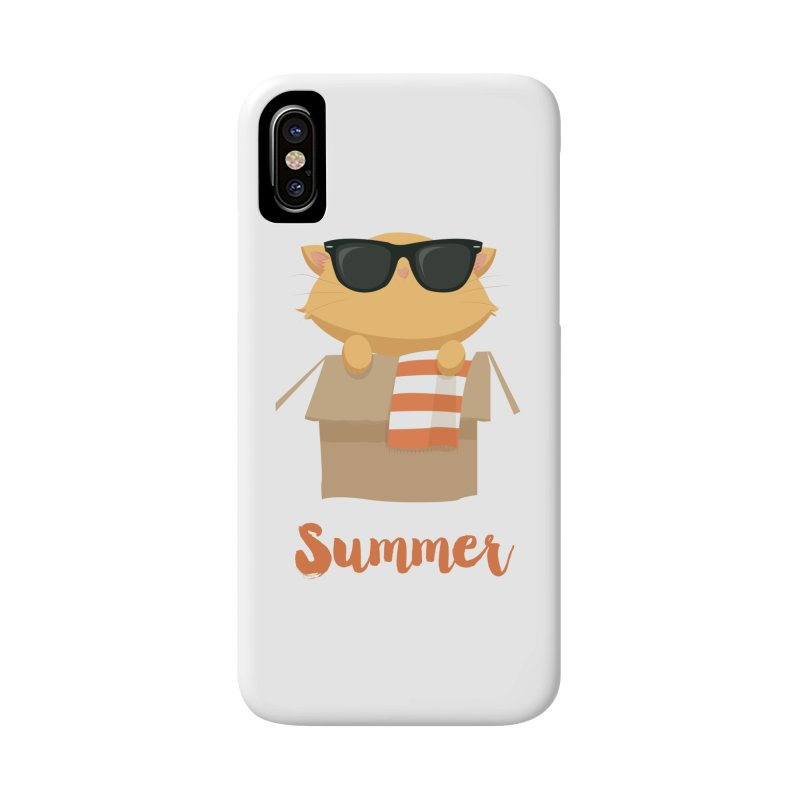 Summer Kitty Accessories Phone Case by Origami Studio