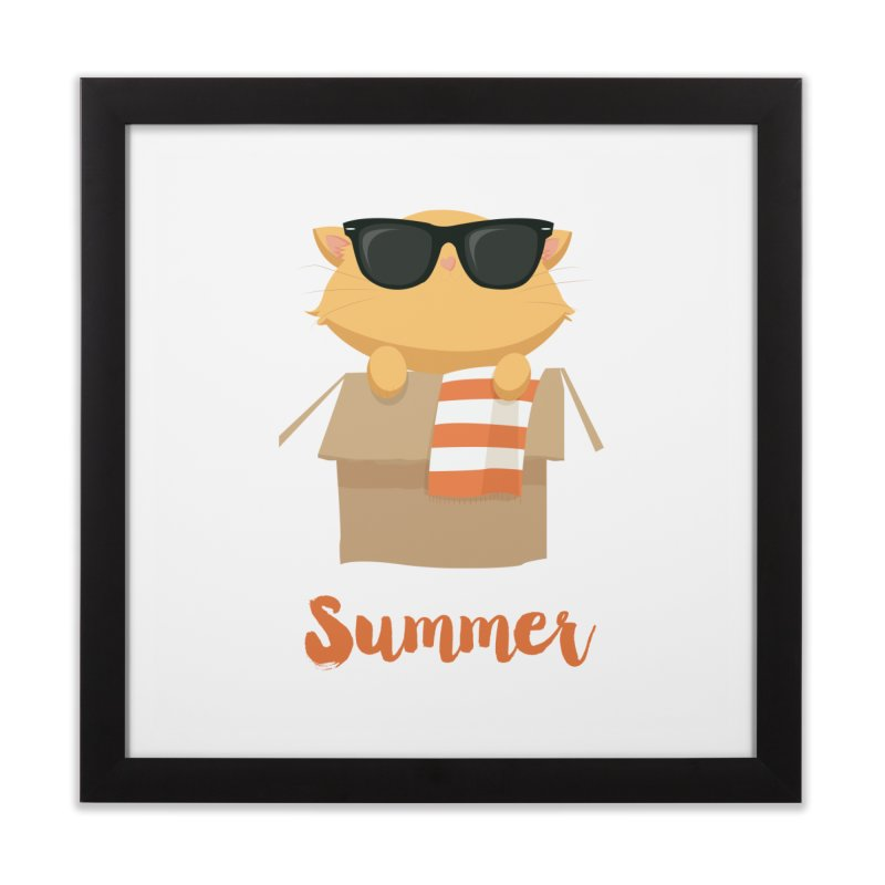 Summer Kitty Home Framed Fine Art Print by Origami Studio