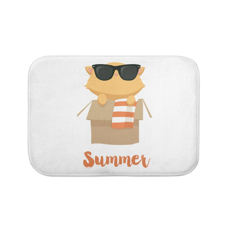 Summer Kitty Home Bath Mat by Origami Studio