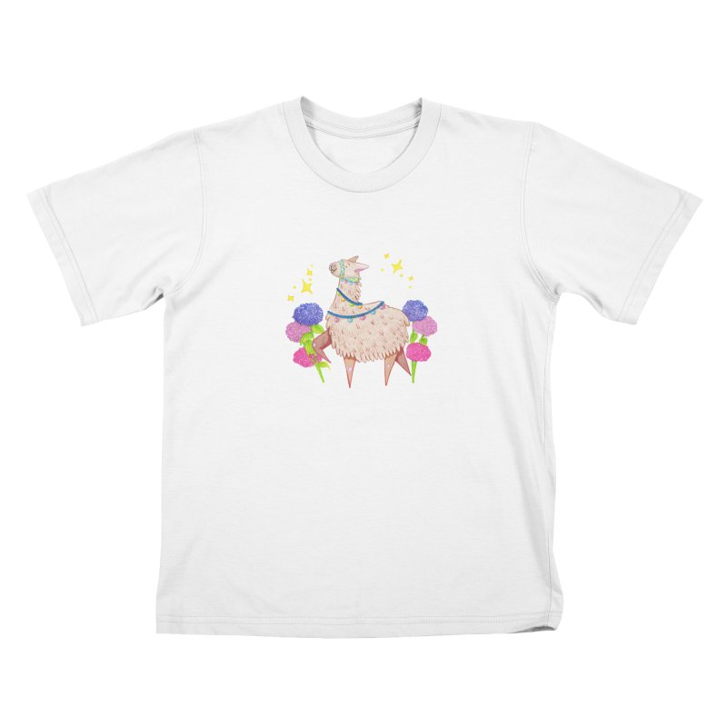 Drama Lama Kids T-Shirt by Origami Studio