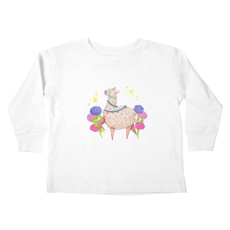 Drama Lama Kids Toddler Longsleeve T-Shirt by Origami Studio