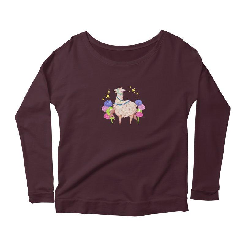 Drama Lama Women's Scoop Neck Longsleeve T-Shirt by Origami Studio
