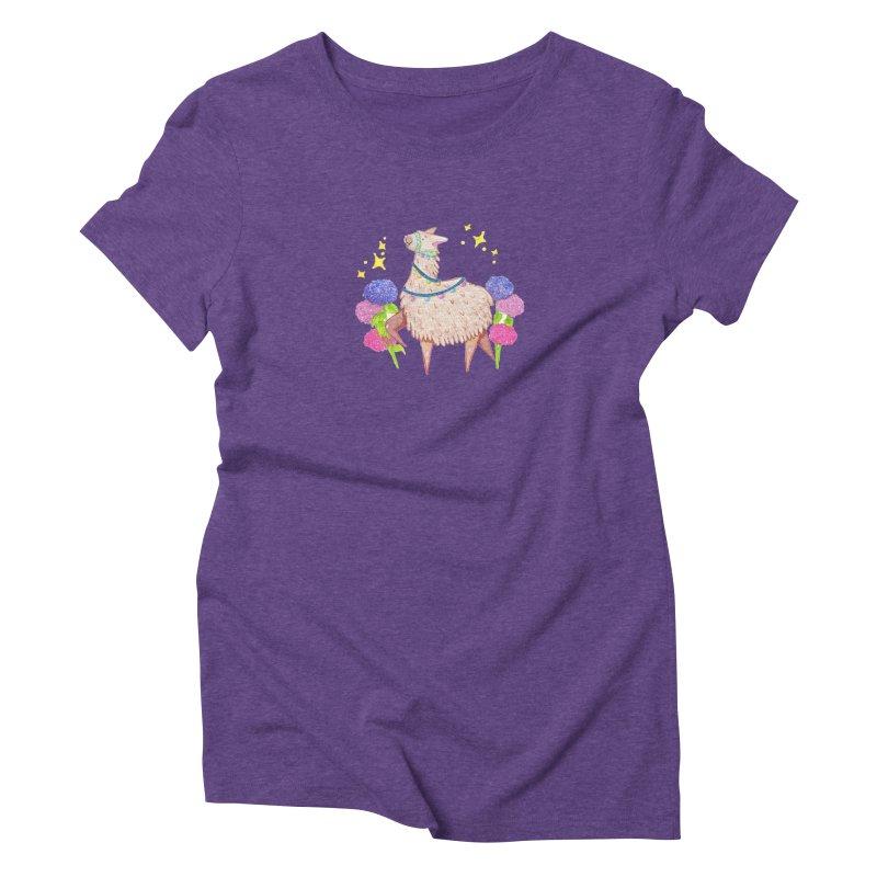 Drama Lama Women's Triblend T-Shirt by Origami Studio