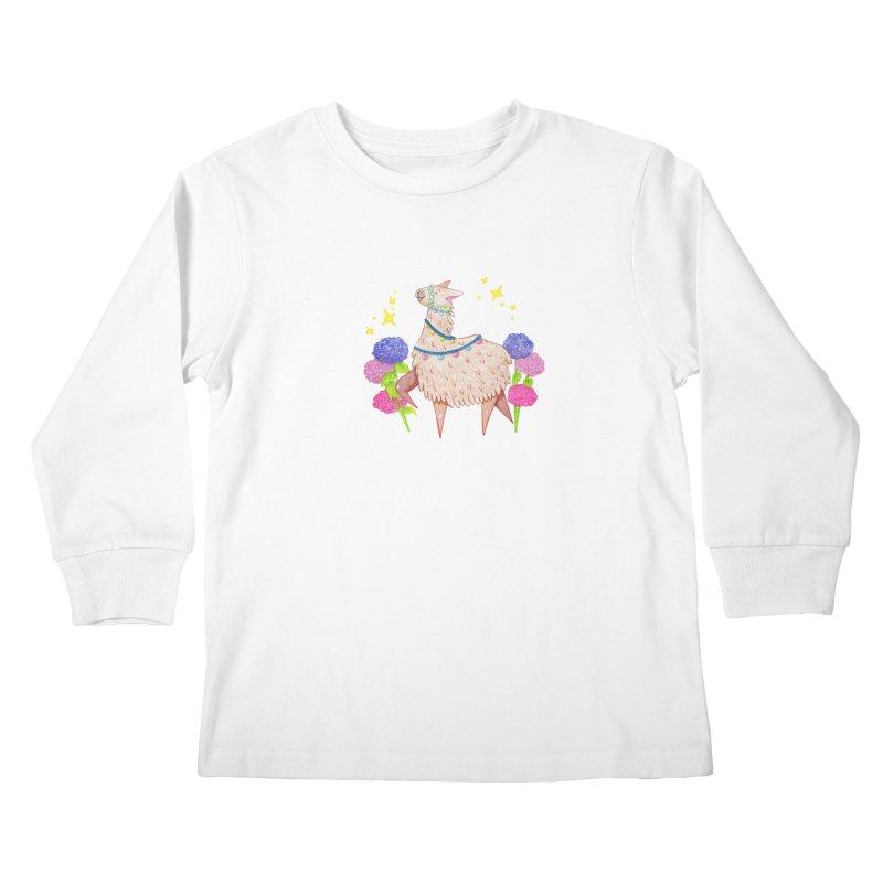 Drama Lama Kids Longsleeve T-Shirt by Origami Studio