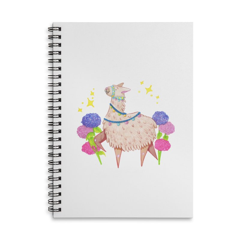 Drama Lama Accessories Lined Spiral Notebook by Origami Studio