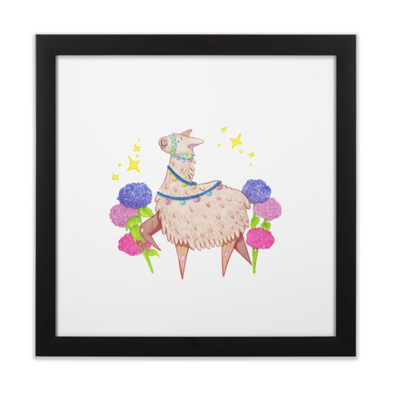 Drama Lama Home Framed Fine Art Print by Origami Studio