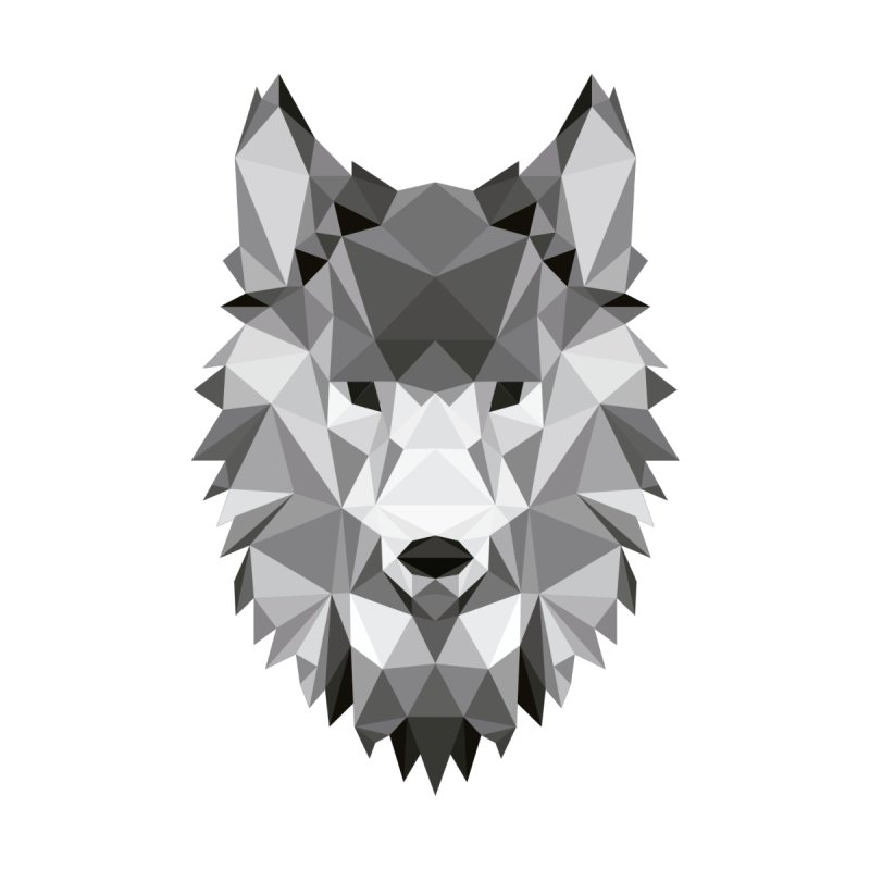 Low poly wolf Accessories Notebook by Origami Studio
