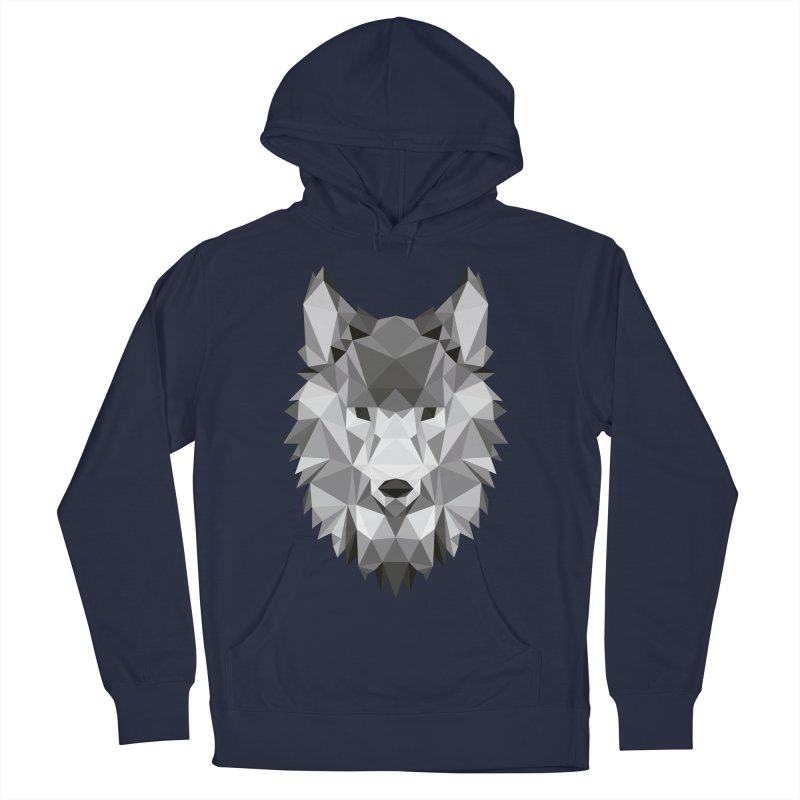 Low poly wolf Men's French Terry Pullover Hoody by Origami Studio