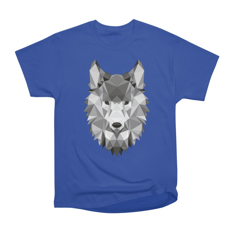 Low poly wolf Men's Heavyweight T-Shirt by Origami Studio