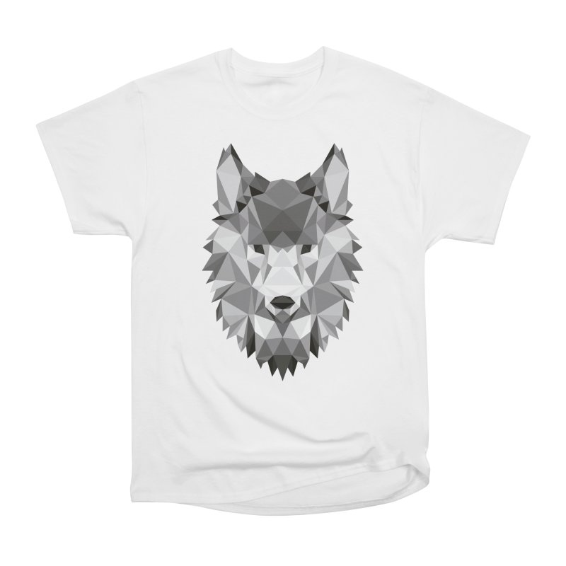 Low poly wolf Women's Heavyweight Unisex T-Shirt by Origami Studio