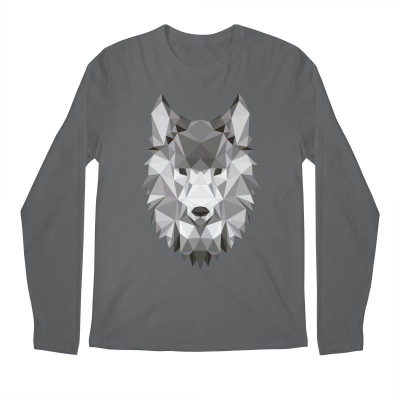 Low poly wolf Men's Regular Longsleeve T-Shirt by Origami Studio