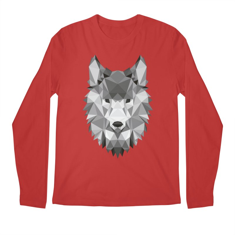 Low poly wolf Men's Regular Longsleeve T-Shirt by Origami Studio