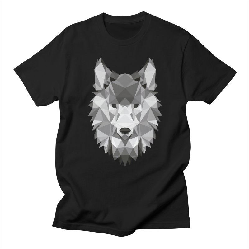 Low poly wolf Women's Regular Unisex T-Shirt by Origami Studio