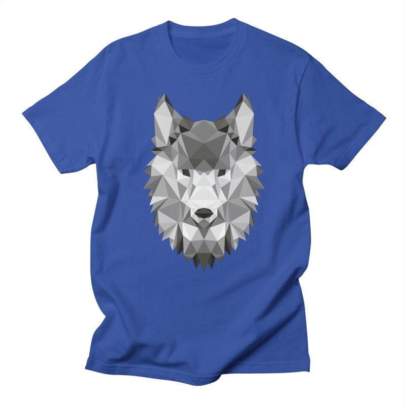 Low poly wolf Men's Regular T-Shirt by Origami Studio