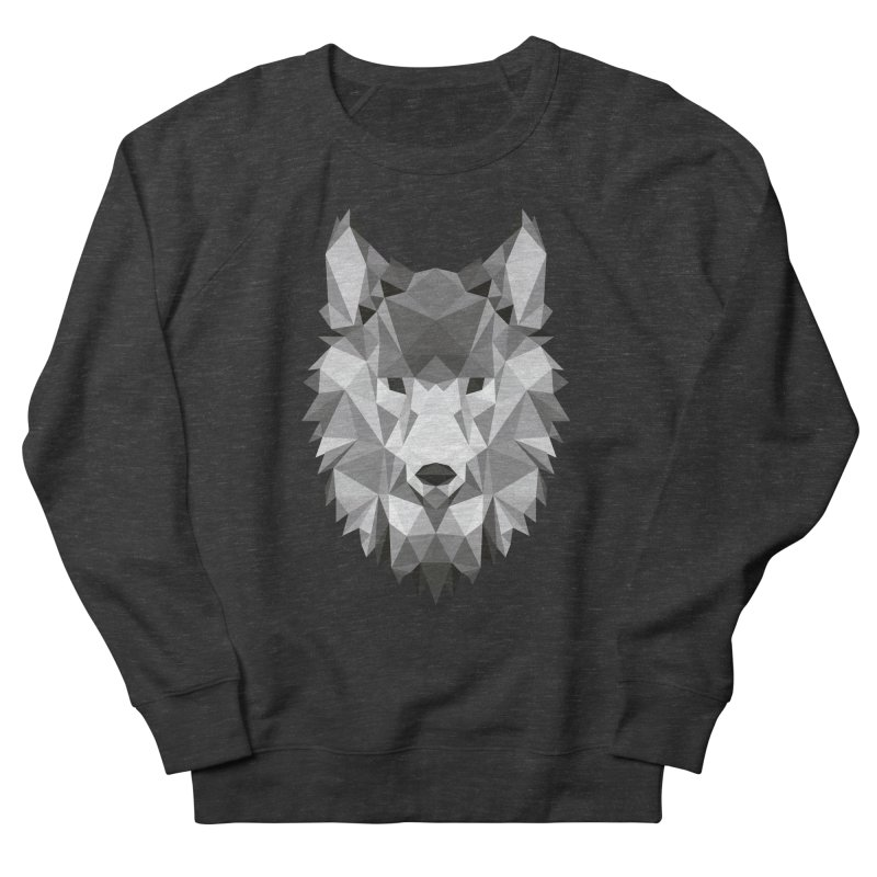 Low poly wolf Women's French Terry Sweatshirt by Origami Studio
