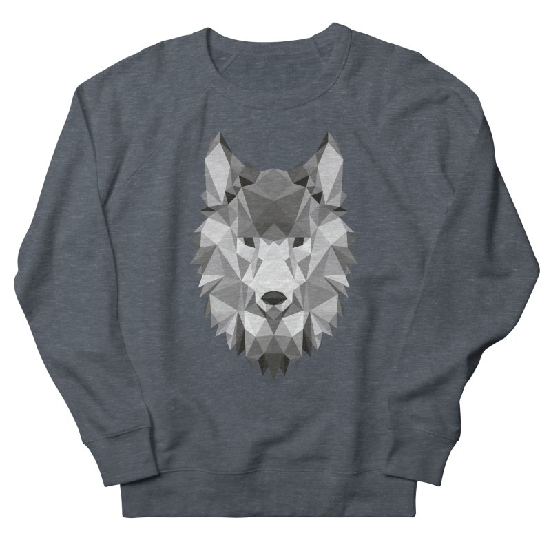 Low poly wolf Women's French Terry Sweatshirt by Origami Studio