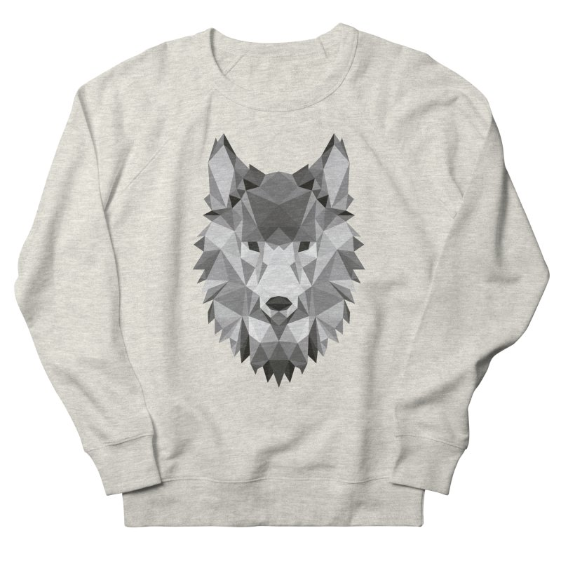 Low poly wolf Men's French Terry Sweatshirt by Origami Studio