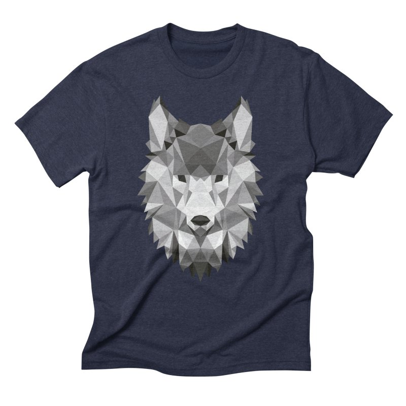 Low poly wolf Men's Triblend T-Shirt by Origami Studio