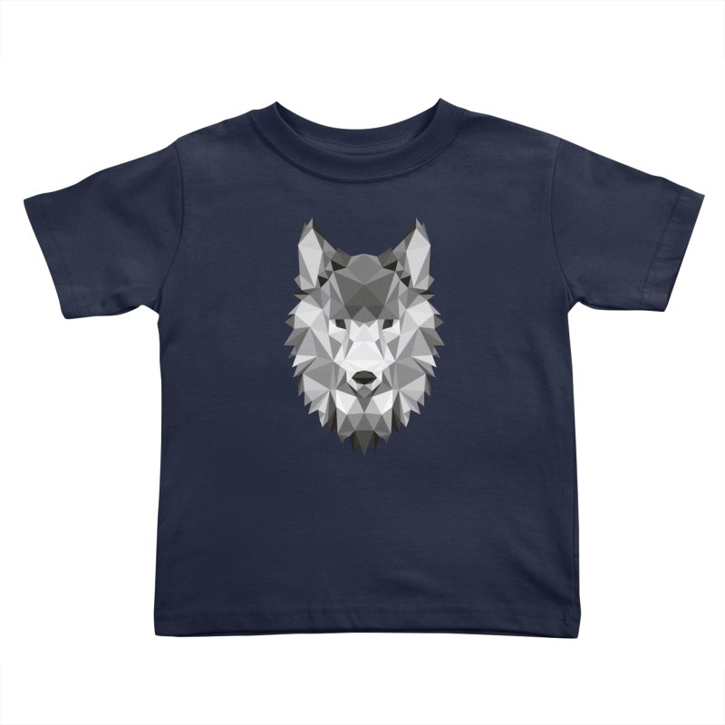 Low poly wolf Kids Toddler T-Shirt by Origami Studio