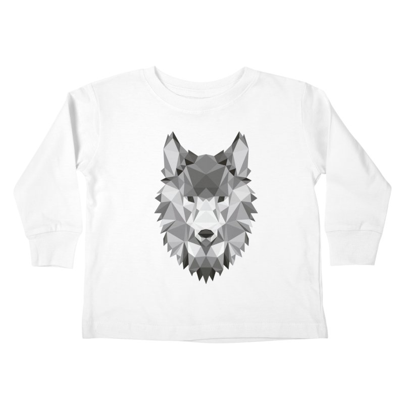 Low poly wolf Kids Toddler Longsleeve T-Shirt by Origami Studio