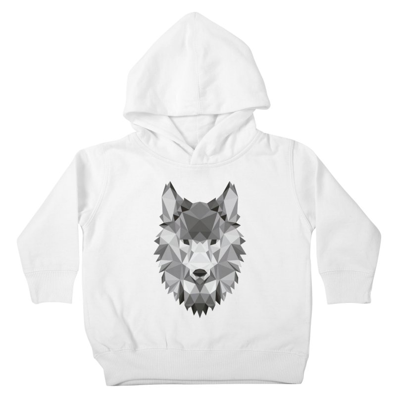 Low poly wolf Kids Toddler Pullover Hoody by Origami Studio