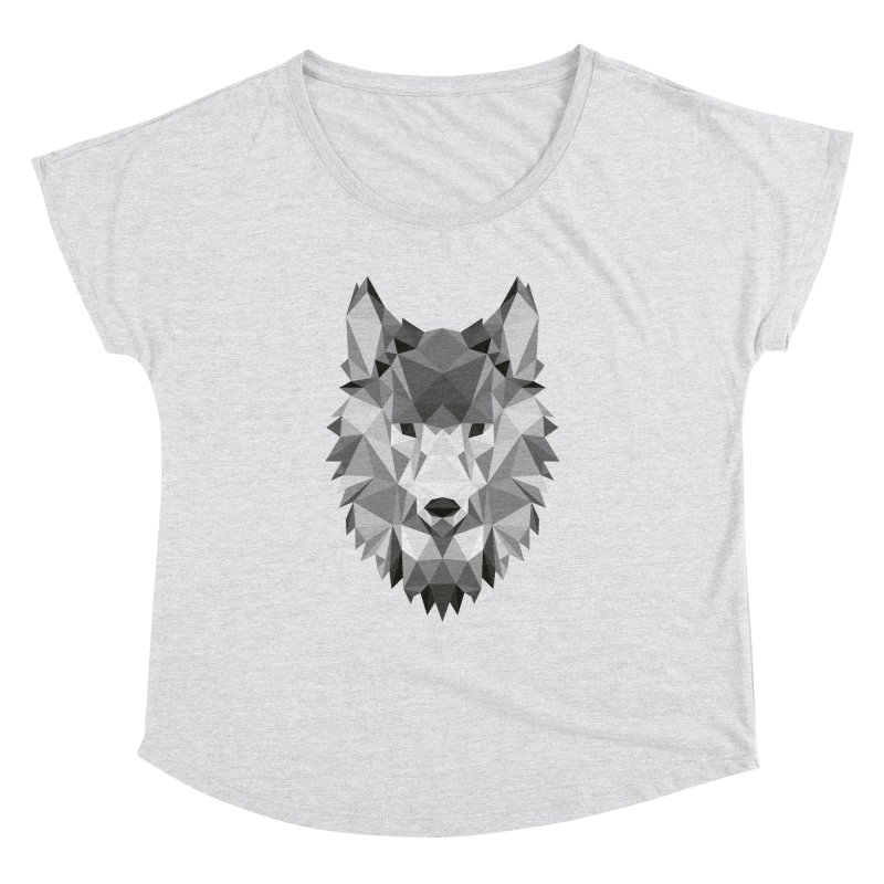 Low poly wolf Women's Dolman Scoop Neck by Origami Studio