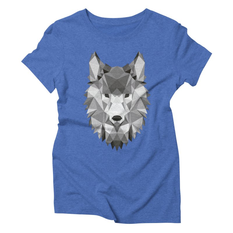 Low poly wolf Women's Triblend T-Shirt by Origami Studio