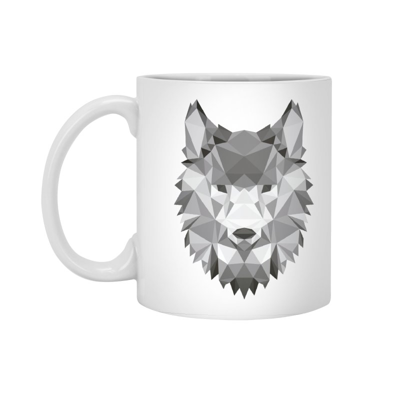 Low poly wolf Accessories Standard Mug by Origami Studio