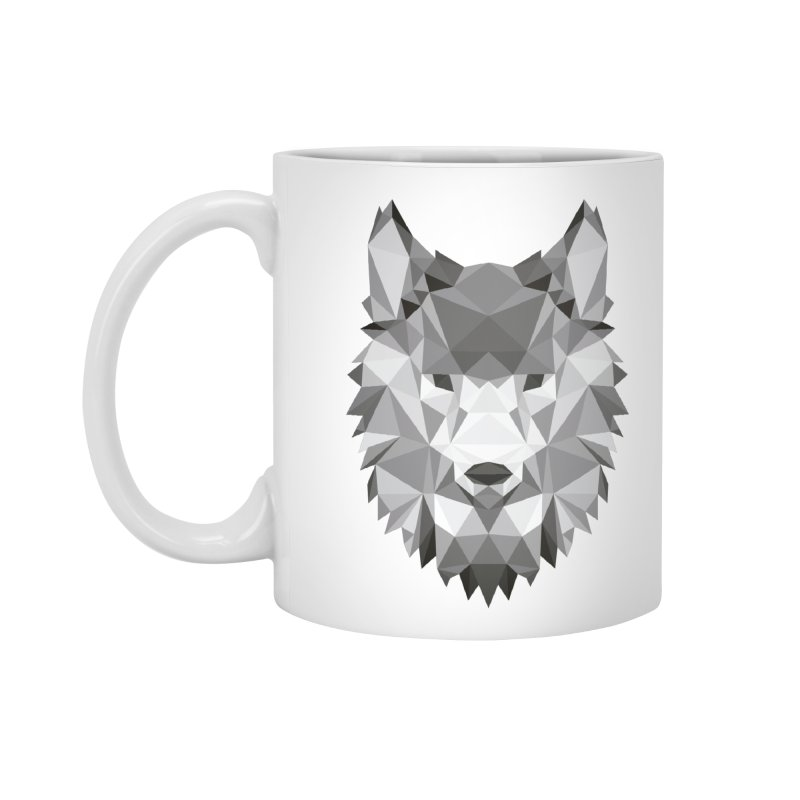 Low poly wolf Accessories Mug by Origami Studio