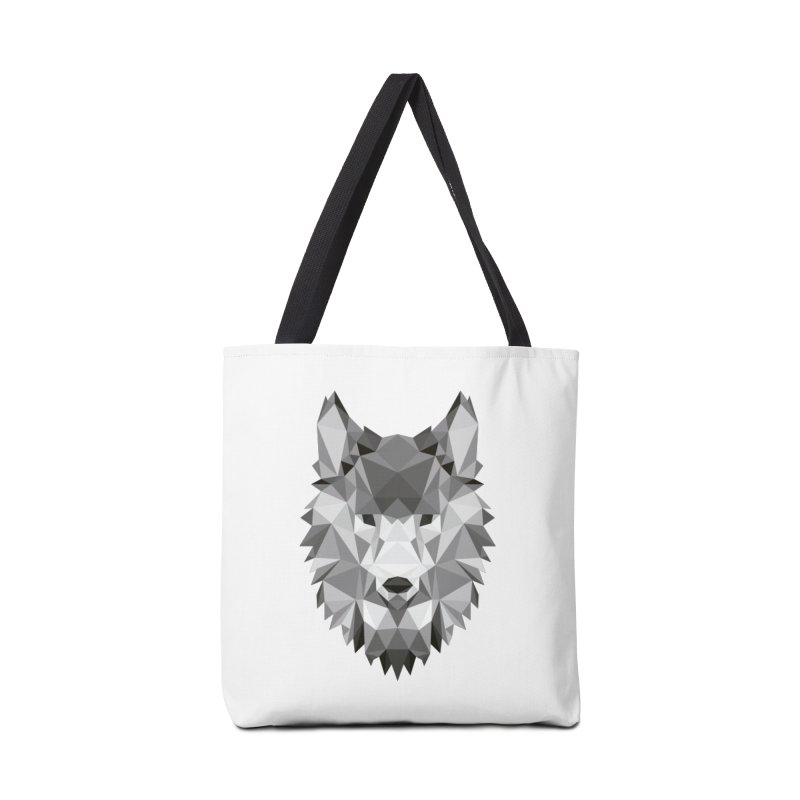 Low poly wolf Accessories Bag by Origami Studio