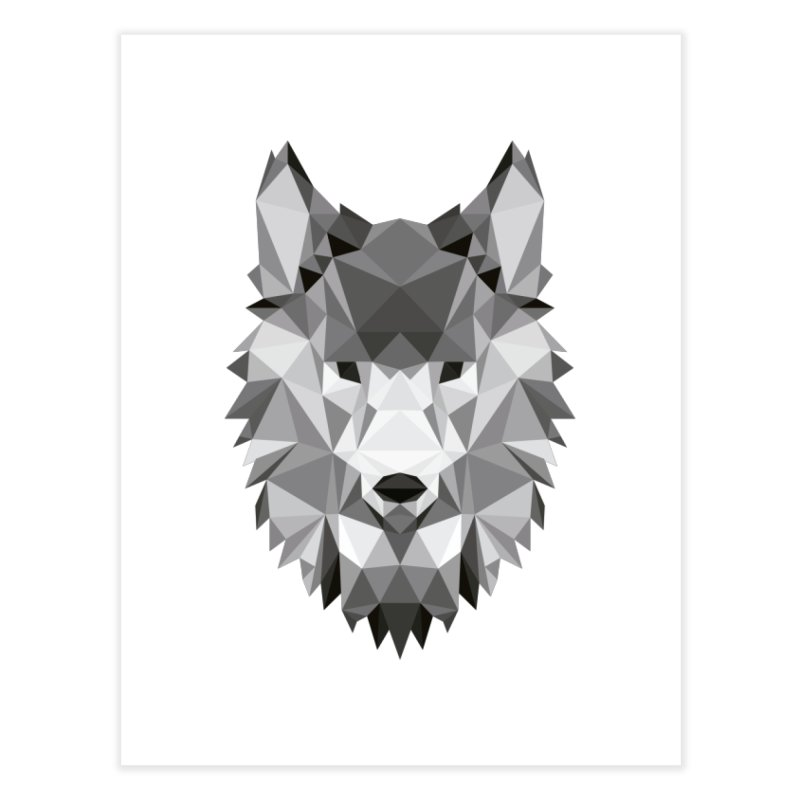 Low poly wolf Home Fine Art Print by Origami Studio