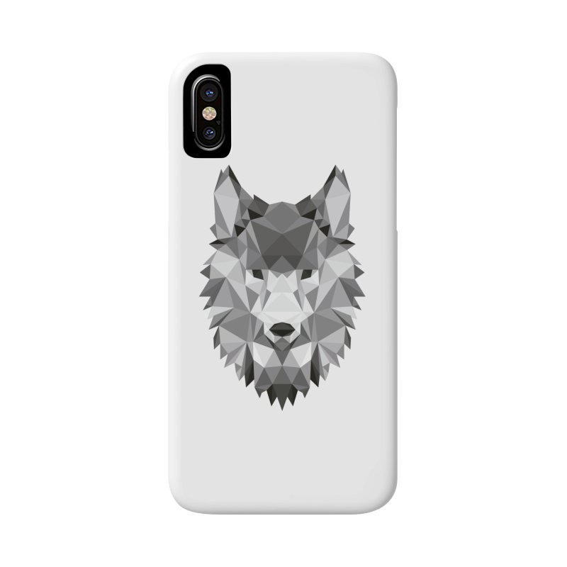 Low poly wolf Accessories Phone Case by Origami Studio