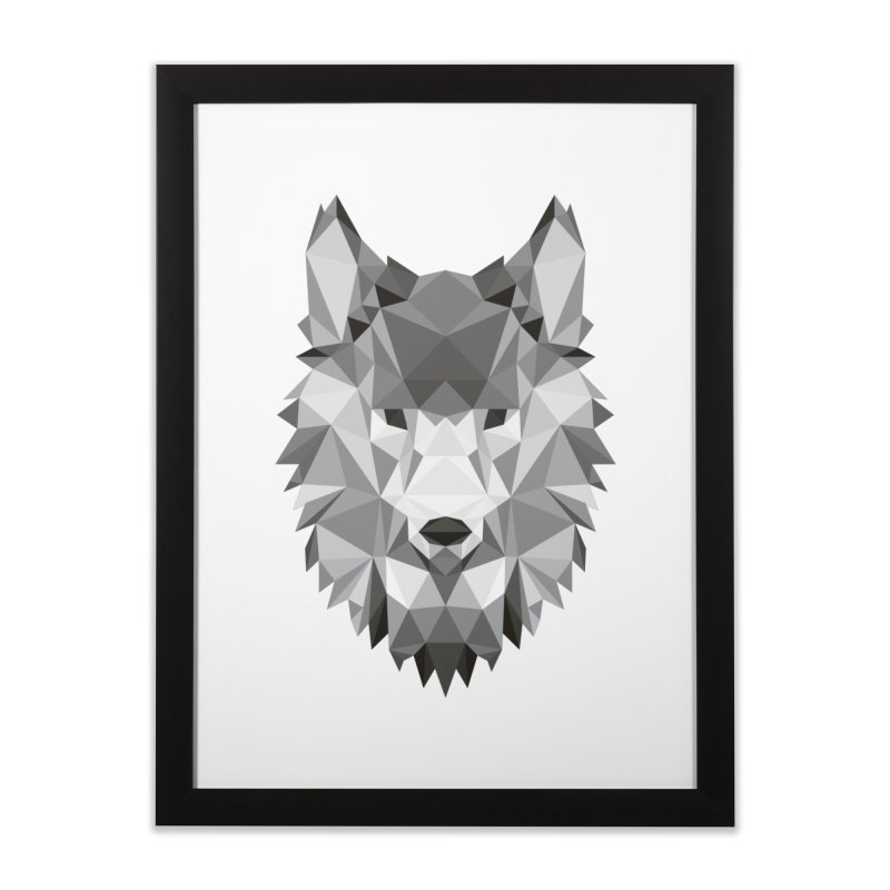 Low poly wolf Home Framed Fine Art Print by Origami Studio