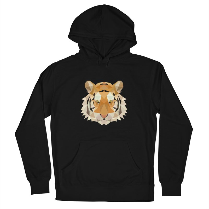 Low poly tiger Women's Pullover Hoody by Origami Studio
