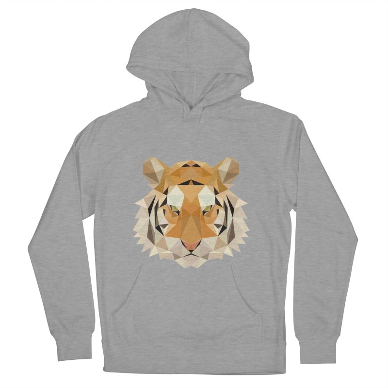 Low poly tiger Women's French Terry Pullover Hoody by Origami Studio