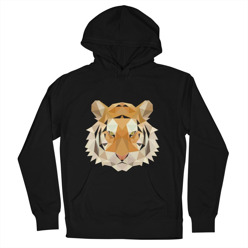 Low poly tiger Men's French Terry Pullover Hoody by Origami Studio