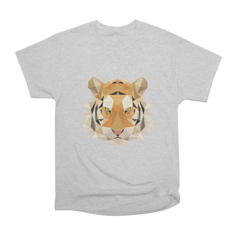 Low poly tiger Women's Heavyweight Unisex T-Shirt by Origami Studio