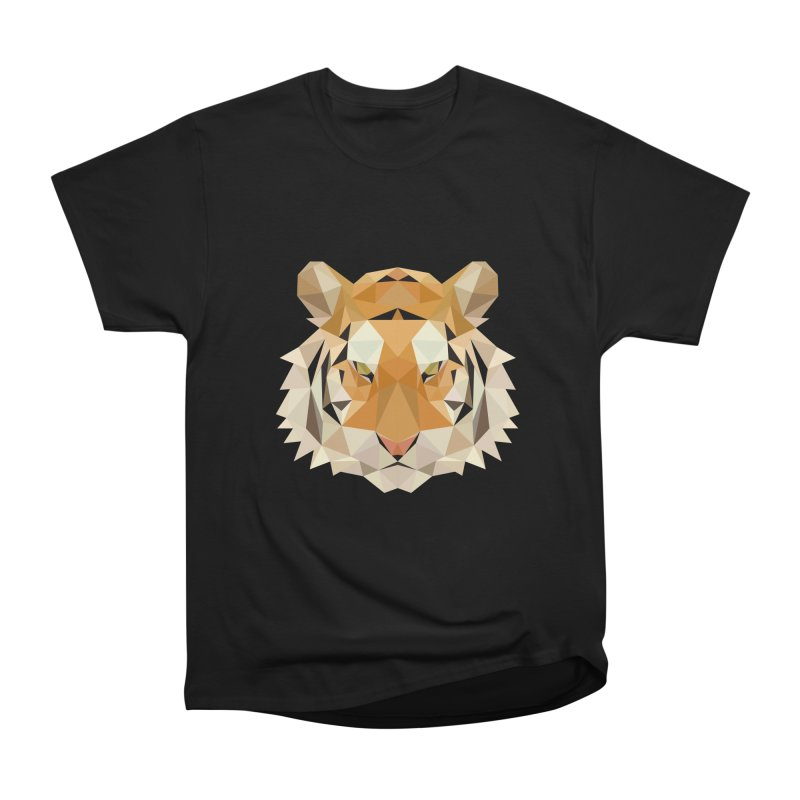 Low poly tiger Men's Heavyweight T-Shirt by Origami Studio