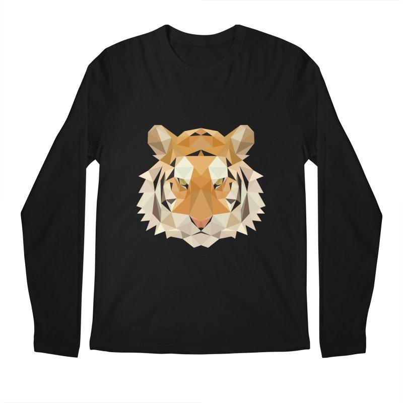 Low poly tiger Men's Regular Longsleeve T-Shirt by Origami Studio