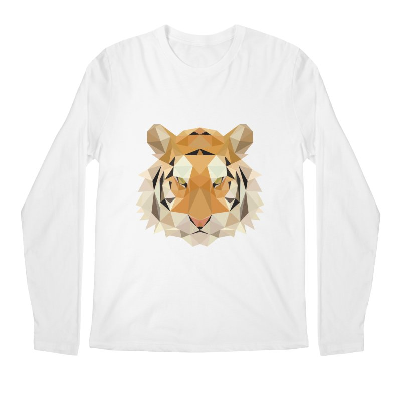 Low poly tiger Men's Regular Longsleeve T-Shirt by Origami Studio