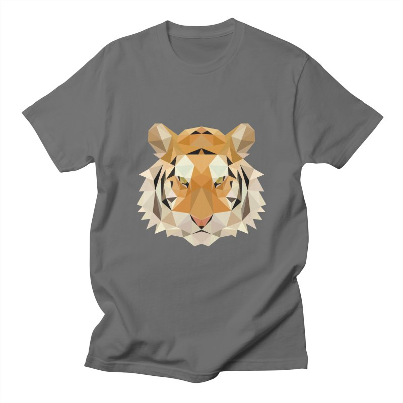 Low poly tiger Men's T-Shirt by Origami Studio